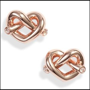Kate Spade Love Me Knot Studs Rose Gold